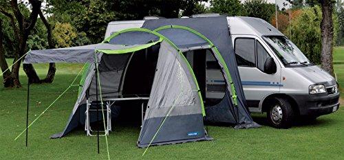 ALTIGASI Rideau Veranda pour camion, camping-car, modèle Coral pour créer une Veranda – Facile à monter – Avec cordons et piquets pour le tension.