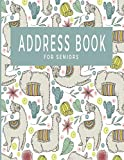 Address Book For Seniors: Large Print Notebook With Tabs; Contacts Emails Birthdays Phone Numbers; Alpaca Design; Great For Parents Grandparents; 8.5 x 11in 150 Pages