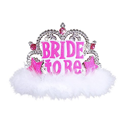 Widmann 8869b ? Diadème Bride to be avec Bijoux et Marabu, One Size