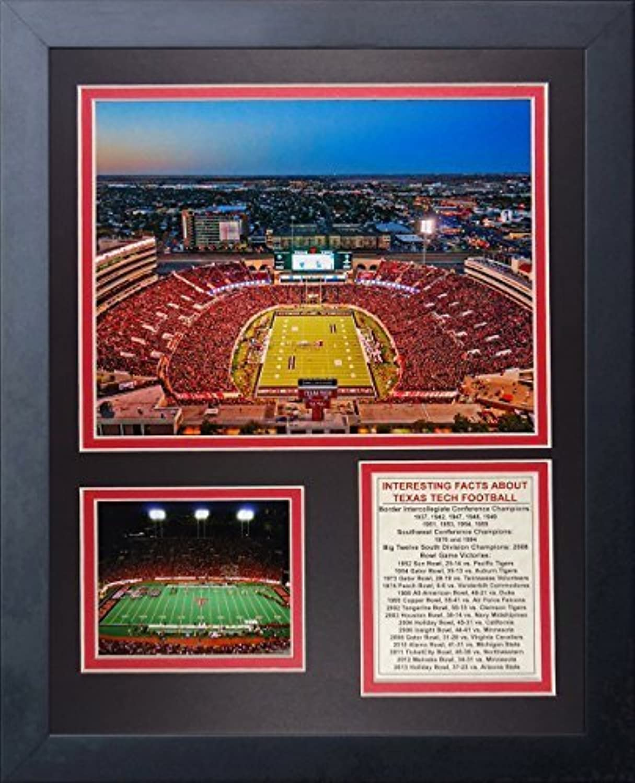 Legenden Sterben Nie  Texas Tech Jones atandt Stadion  gerahmtes Foto Collage, 11x 35,6cm von Legends Never Die