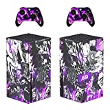 Babita Dogra Protective Vinyl Skin Decal Cover for X-Box-Series-X Console Wrap Sticker Skins with Two Free Wireless Controller Decals Black Magic Anime