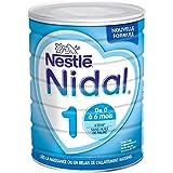 Nestlé Nidal 1 - Lait bébé 1er âge en poudre de 0 à 6 mois - Boîte de 800g - Pack de 6