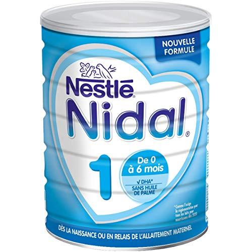 Nestlé Nidal 1 - Lait bébé 1er âge en poudre de 0 à 6 mois - Boîte de 800g