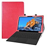 LFDZ Cover Teclast X4,Slim Ultra Pelle Sottile e Leggera Cover Case Custodia per 11.6' Teclast X4 2 in 1 Laptop Tablet,Rosso