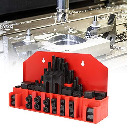 Kit de abrazadera para ranura en T de 58 piezas, placa prensada combinada templada para fresadora torneada M10