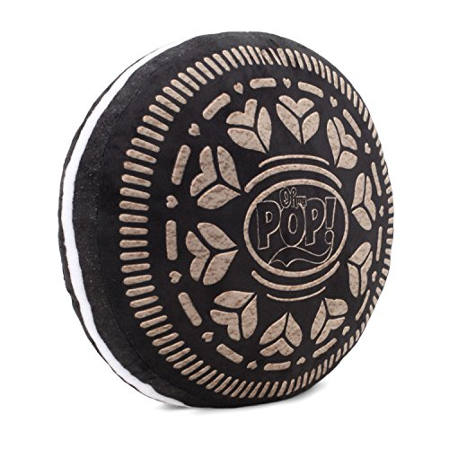 Oh My Pop Pop! Black Cookie-Pillow Cushion (Large) Reisekissen, 38 cm, Schwarz (Black)