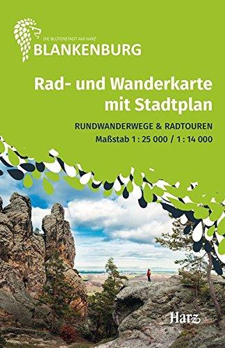 Blankenburg - Harz: Rad- und Wanderkarte mit Stadtplan