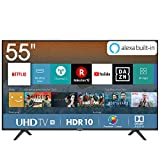 Hisense H55BE7000 Smart TV LED Ultra HD 4K 55', HDR, Dolby DTS, Slim Design, Tuner DVB-T2/S2 HEVC...