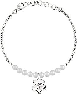 Fashion Naturel Noir Agate 18K blanc Plaqué or lien Fortune Fermoir Bracelet