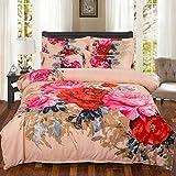 yaonuli Blätter von Vier Sätzen von Baumwolle Baumwolle Quilt-Set verheiratet Neue Hochzeitsblumen offen reichen 2,0x2,2 Meter oder so Quilt