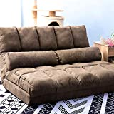 Floor Gaming Chair Lazy Sofa Adjustable 3 Convertible Positions Floor Sofa with Two Pillows for...