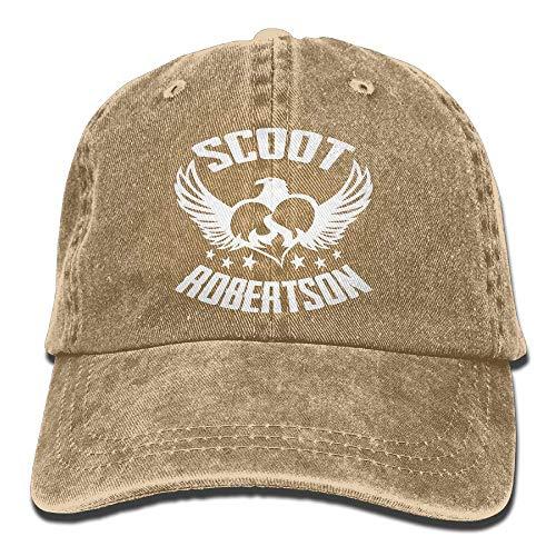 Scoot Robertson Eagle Heart Denim Dad Cap Baseball Hat Adjustable Sun Cap