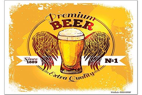 Kühlschrankmagnet Nostalgie Bier Engel