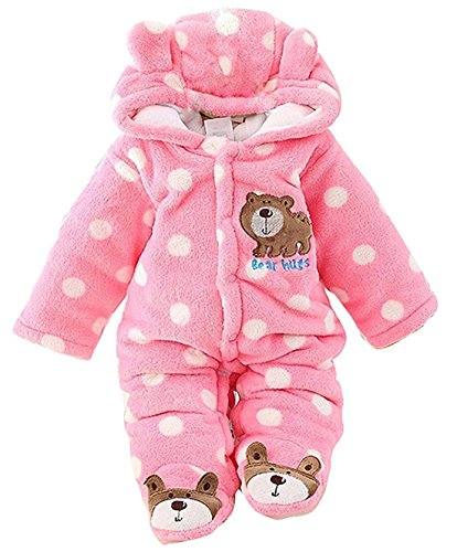 CM C&M WODRO C&M Baby Jumpsuit Outfit Hoody Coat Winter Infant Rompers Toddler Clothing Bodysuit  Pink