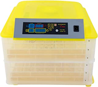 Derleb Egg Incubator Automatic Temperature Control Poultry Chicken Duck Birds Eggs for Hatching 112 Egg Incubator