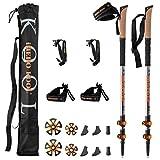 iHERO-KOOL _Revolución 2020_ Bastones De Senderismo & Marcha Nordica | Trail Running | Ergal | Par Plegables Telescópicos Extensibles Trekking Ultraligero para Caminar | Hombre Mujer Palos Montaña