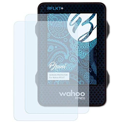 Bruni Schutzfolie kompatibel mit Wahoo RFLKT Folie, glasklare Displayschutzfolie (2X)