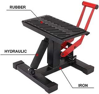 JFG RACING Motorcycle Dirt Bike Lift Jack Hoist Stand Table Height Adjustable Lifting Stand