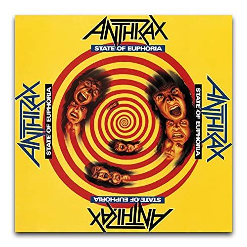 WPQL Anthrax - Stato di Euphoria Album copertina Rock star e rapper decorare musica moderna soggiorno camera da letto poster da parete 30 x 30 cm