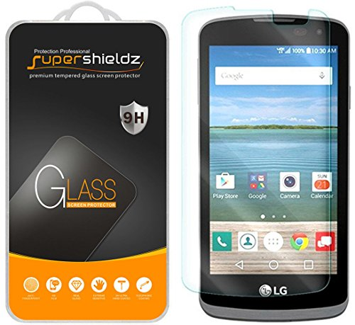 Supershieldz for LG K4 LTE, LG Optimus Zone 3, and LG Spree Tempered Glass Screen Protector, Anti Scratch, Bubble Free