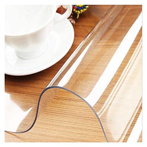 ZHANGQINGXIU Mantel Transparente Cubierta Protectora De Mesa Transparente Rectangular Plástico Impermeable Alfombrilla De Mesa De PVC para Madera Cocina Mesa De Escritura De Café, 25 Tamaños