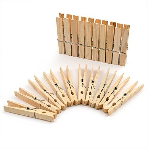 Logbuch-Verlag 24 Wäscheklammern braun natur aus Holz Holzklammern 7 x 1 cm Deko Verpackung Verzierung zum Basteln Geschenktüten Adventskalender-Tüten