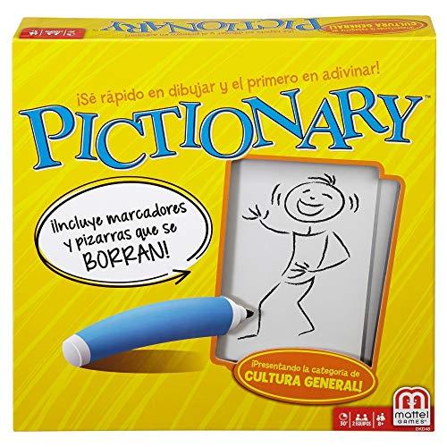 Pictionary Board Juego de mesa de palabras para jugar con familia y amigos para niños de 8 años en adelante desde 4 jugadores
