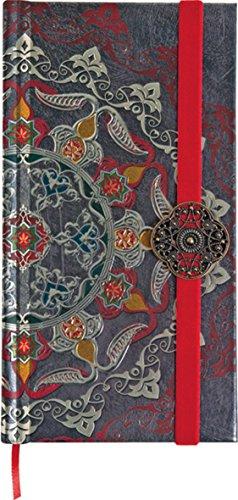 Boncahier 102011 Notizbuch 9 x 17.5 cm, 144 Seiten, liniert, Orient Motiv, grau/silber