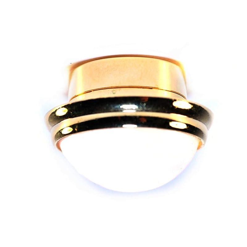 キャリッジ心からポール人形の家の円形の天井灯の白い陰の真鍮LED照明電池ランプ