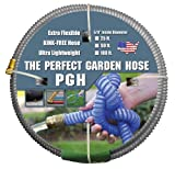 Tuff-Guard The Perfect Garden Hose, Kink Proof Garden Hose Assembly, Grey, 5/8' Male x Female GHT Connection, 5/8' ID, 50 Foot Length