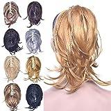 tressé Queue de cheval Extensions de cheveux, Messy synthétique Pince Crabe en queues de cheval postiche pour femme