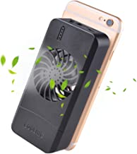 VIVISKY Portable Phone Fan 3 In 1 Phone Cooling Fan Power Bank Stand Holder Suitable For Any Smart Phone Tablet(Black)