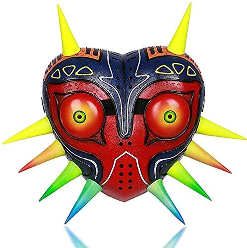 Oaiyeie Máscara de Majora, Colorido, tamaño Real, Resina de Lujo, Disfraz de Cosplay para Adultos, Accesorio (Glow)
