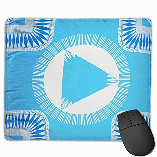 Gaming-Mauspad, Premium-strukturierte Mauspad-Pads, niedliches Mousepad für Spieler, Büro und Zuhause Blaues Leinwand-geometrisches Muster, das Saumlinien zeichnet Abstrakte...