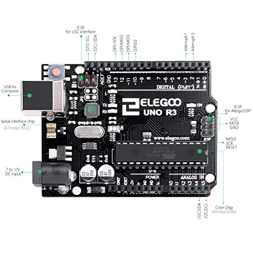 『ELEGOO Arduino用UNO R3コントロールボード ATmega328P +USBケーブル』の3枚目の画像