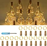 Wine Bottle Lights, 16Packs of LED Copper Wire Light Battery Operated Colourful Fairy String Light for DIY Bottles, Weddings, Christmas, Halloween 20 LEDs Decorative Cork Lights(78Inches Wire)