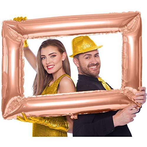 Dream' s Party Pallone Cornice per Selfie Color Rosa Gold - Palloncino Cornice Gonfiabile Foto Booth per Feste - Balloon Photo Frame - Dimensione Circa 60x85cm