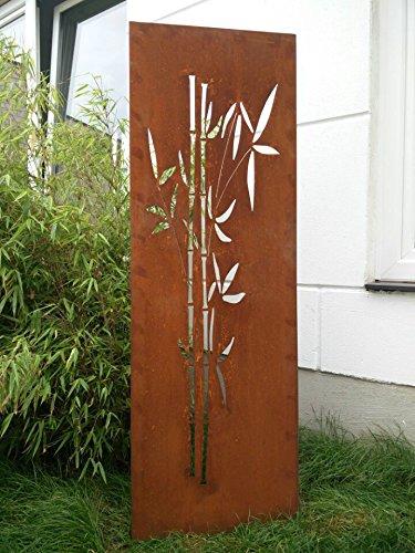 Zen Man Garten Sichtschutz aus Metall Rost Gartenzaun Gartendeko edelrost Sichtschutzwand 031663 150 * 50cm