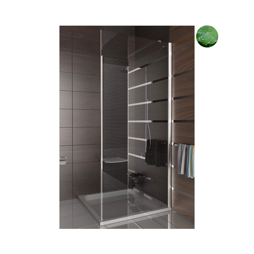 Elegance pared lateral 80 x 195 incluido de cristal de colour acabado/ducha/de vaivén/mampara de ducha: Amazon.es: Bricolaje y herramientas