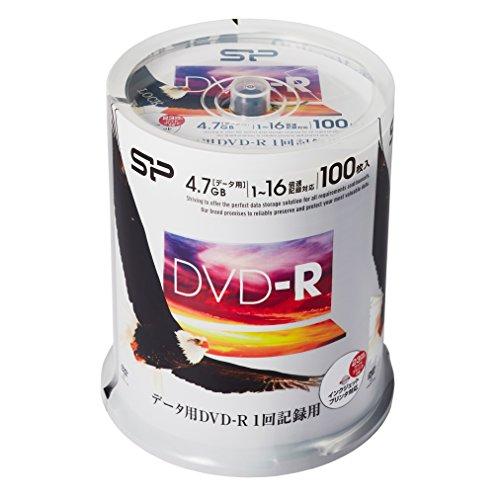 シリコンパワー データ用DVD-R 4.7GB 1-16倍速対応 ホワイトワイドプリンタブル 100枚スピンドル B07897ZMHF 1枚目