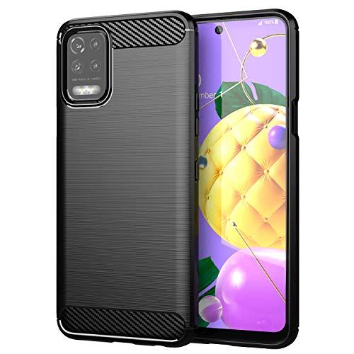 TingYR Hülle für LG K52, Ultra Thin Silikon hülle Abdeckung Handy Hülle Stoßfest Hülle Schutzhülle, Handyhülle für LG K52 Smartphone.(Schwarz)
