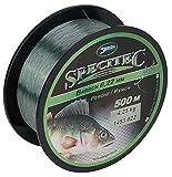 Specitec ' Barsch ' Schnur Ø 0,22mm -Farbe: Light green transparent - Angelschnur monofil...