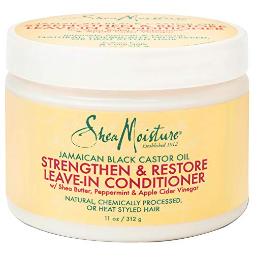 SheaMoisture Jamaican Black Castor Oil Leave In Conditioner for Over-Processed, damaged hair 100% Pure Jamaican Black Castor Oil to Soften and Detangle Hair 11 oz