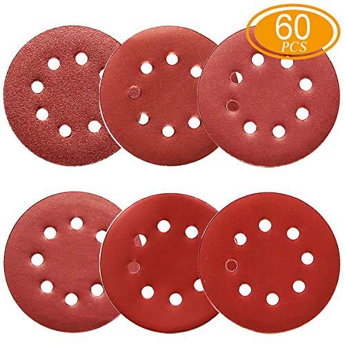 24pcs//set 125mm 8-Hole Sanding Discs Pad Sander Sandpaper 400//600//800 # Grit