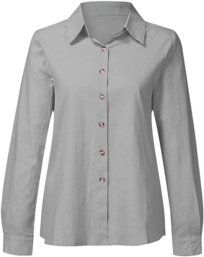 Camisas Mujer Rebeca Chaqueta Mujer Lino de algodón Casual ...