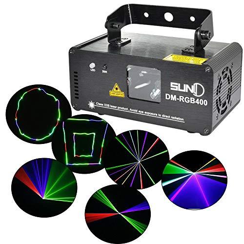 Discolicht Partylicht RGB DM-RGB400 LED Bühnenbeleuchtung Strahl Effekt Projektionslampe mit Farbwechsel DMX512 DJs, Bands, Bars, Pubs, Clubs, Rollschuhbahnen, KTV