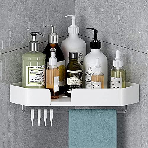 RUGAR Baño de Pared Ducha de Manga de Pared sin Taladro de Almacenamiento Ducha antirust Adhesivo de Aluminio para baño Cocina (Color : Blanc un, Size : 1 couche b)