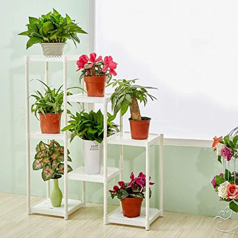 DSJ Blaumenregale Blaumenregal Multi-Storey Kreative Kombination Wohnzimmer Balkon Innen Einfache Neue Boden Balkon Regale Blaume Regal