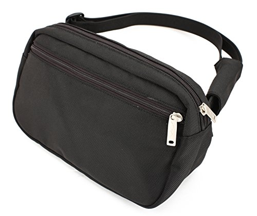 DayMakers BeSafeBags HipSafe Anti-Theft Security RFID Waist Pack, Large, Black Ballistic Polyester