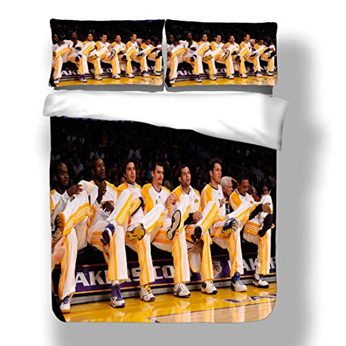 Duvet Cover Set National Basketball Player Bedding Association Playoffs Finals Allstar Super Star Double Team Playoffs Quilt Coverlet with 2 Pillow Shams Eastern Western Conference Semifinals